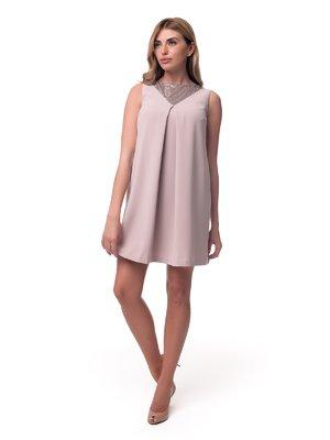 Сукня бежева з паєтками | 2957289