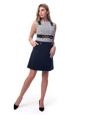 Платье черно-белое с принтом | 3210862