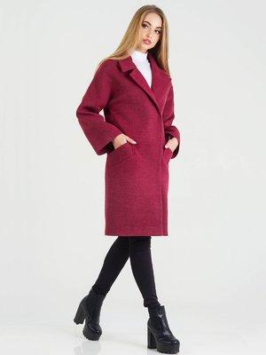 Пальто бордовое | 3632154