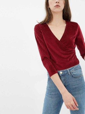 Пуловер бордовый | 3636920