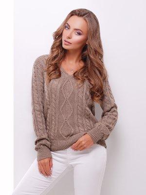 Пуловер кофейного цвета | 3637789
