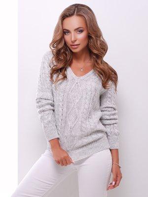 Пуловер светло-серый | 3637790