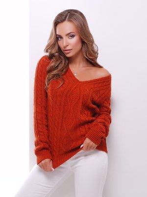 Пуловер терракотовый | 3637792