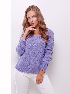 Пуловер фіалкового кольору | 3637793