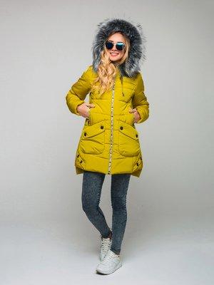 Пальто гірчичного кольору | 3642088