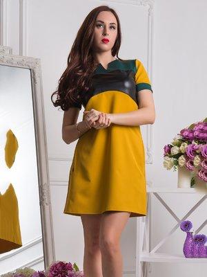 Платье горчичного цвета | 3646232
