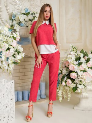 Костюм: блуза и брюки | 3646425