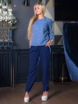 Блуза синяя | 3646477