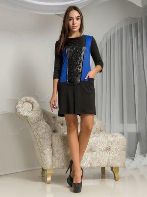 Платье черно-синее | 3646107