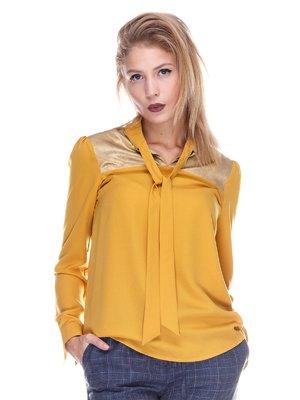 Блуза гірчичного кольору | 3631837