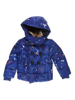 Куртка синя з принтом   3622086