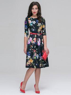 Платье в цветочный принт | 3638483