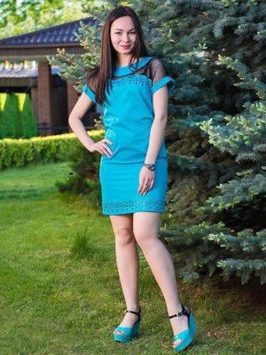 Платье бирюзовое | 3646057