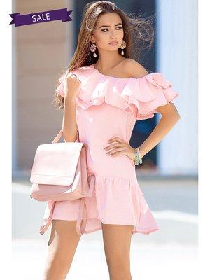 Платье розовое в полоску | 3344397