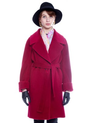 Пальто бордове | 3652687