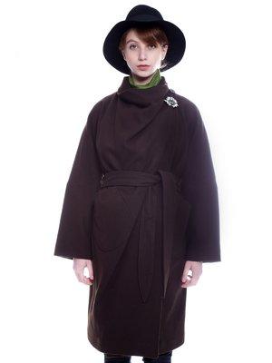 Пальто коричневе | 3652761