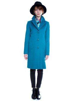Пальто бирюзовое   3652787