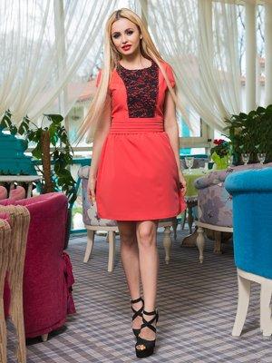 Платье коралловое | 3646177
