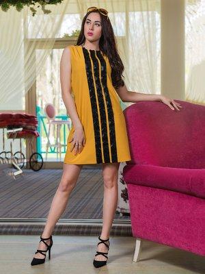 Платье горчичного цвета | 3646292