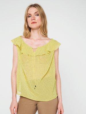 Блуза желтая в принт | 3646614