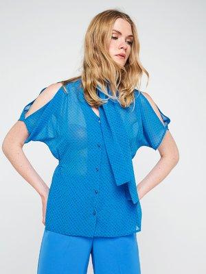 Блуза синя в горох   3646616