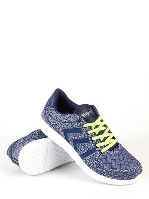 Кросівки сині в принт | 3272899