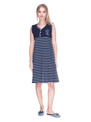 Платье темно-синее в полоску | 3639349
