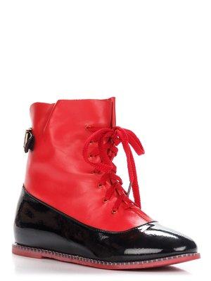 Ботинки красно-черные   3596357