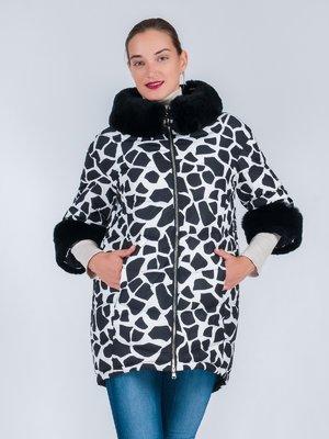 Куртка черно-белая в принт   3665520