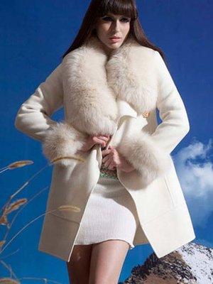 Пальто кольору айворі | 3576262