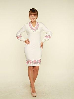 Платье молочного цвета с вышивкой   3667472