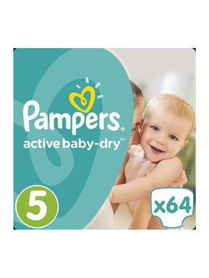 Підгузки Active Baby-Dry - розмір 5 (Junior) 11-18 кг (64 шт.) - Pampers - 3670147