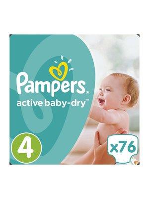 Подгузники Active Baby-Dry - размер 4 (Maxi) 8-14 кг (76 шт.) - Pampers - 3670153
