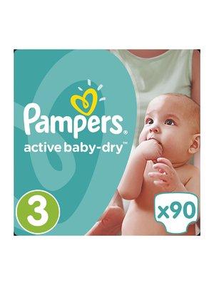 Підгузки Active Baby-Dry - розмір 3 (Midi) 5-9 кг (90 шт.) - Pampers - 3670161