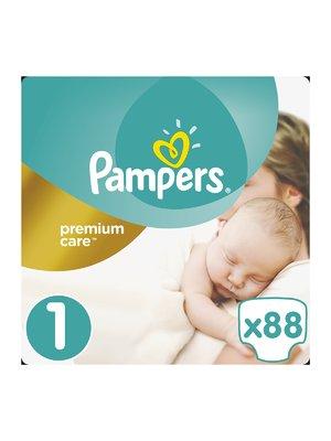 Підгузки Premium Care New Born - розмір 1 (для новонароджених) 2-5 кг (88 шт.) | 3670180