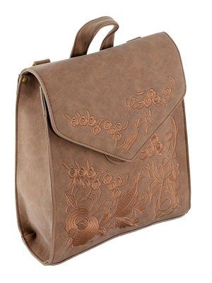 Рюкзак светло-коричневый с вышивкой | 3675774