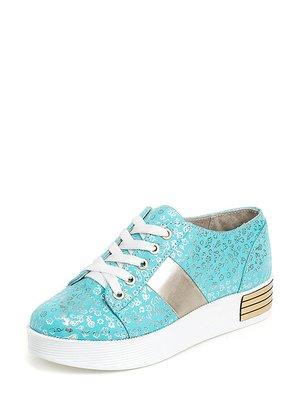 Туфлі бірюзові в принт | 3039902