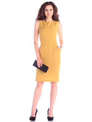 Платье горчичного цвета | 3678787