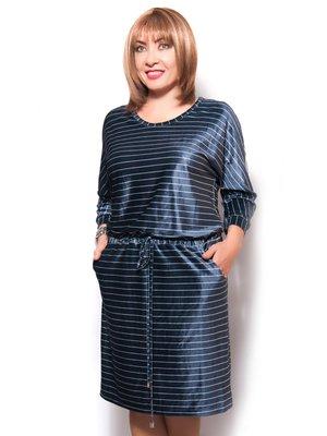 Платье синее в полоску | 3681177