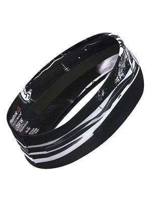 Пов'язка на голову чорна з принтом | 3523080