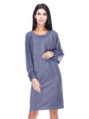 Платье серо-синее | 3667603