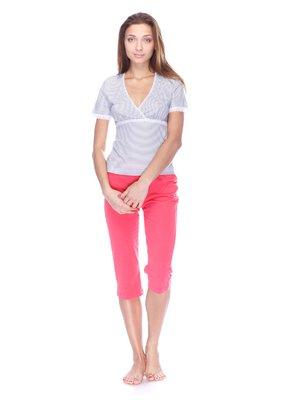 Пижама: футболка и капри | 3676756