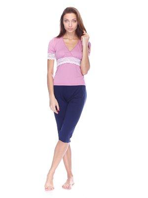 Пижама: футболка и капри | 3676755