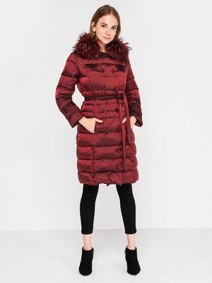 Пальто бордовое | 3682863