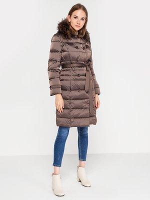 Пальто сіро-коричневого кольору | 3682866
