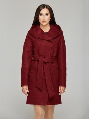 Пальто бордовое | 3683815