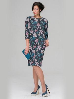 Платье в цветочный принт | 3687340