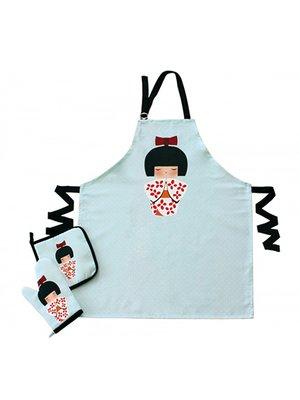 Набір для кухні: фартух, прихватки і рукавиця | 3688495