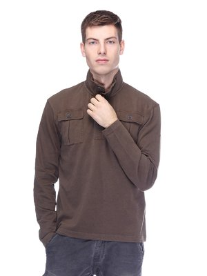 Джемпер-поло темно-коричневий | 2605407