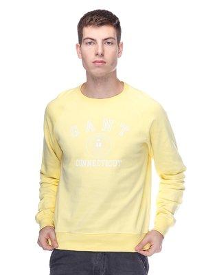Джемпер жовтий з принтом | 2631786